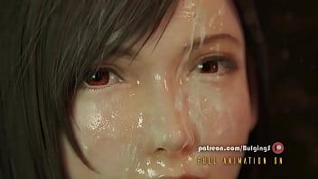 Busty Tifa face fucked