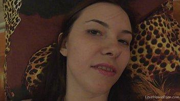 Klara films her face while cumming thumbnail