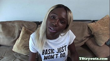 Black busty casting tgirl solo jerking off