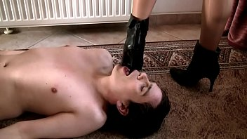 Fetish boot gallery clips Slave lick my boots clean