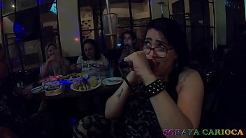 Soraya Carioca giving a Karaoke singing voice show with friends