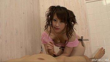Adorable teen Kanae Serizawa gives her guy a foot job before gobbling down his h porno izle