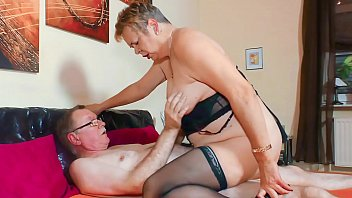 XXX OMAS - Sultry grandma gives intense blowjob in wild fuck