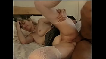Sexy mature blonde gets fucked and a facial from husband