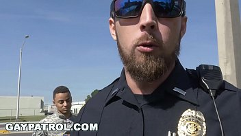 GAY PATROL - Aggressive Cops Take Down Fake Soldier and Lay Down The Law 12 min