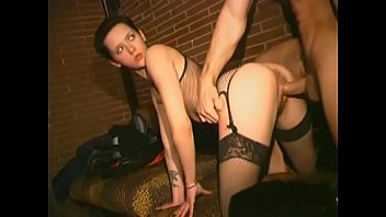 Slut gets assfucked at the night club