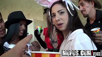 (Adriana Milano) Trinity St-Clair - College Halloween orgy party - Mofos