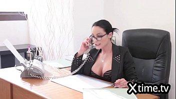 Big dick business men Italian business woman hiring a man because of big dick
