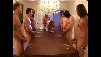 Cute hottie with brown eyes Aurora Snow in white outfit  should pass her next tentamina eating juice of six horny males pornhub video