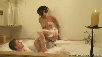 Soapy Massage with a little Sex