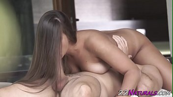 Busty babe gets pussy eaten out
