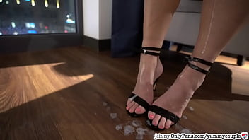 After Party Fun CFNM Cumshot Heels Handjob YummyCouple