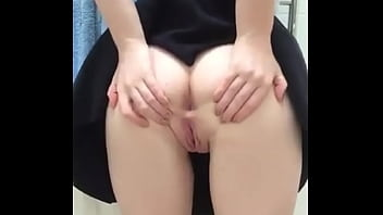Masturbating in dressing room