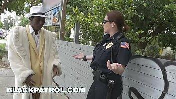 BLACK PATROL - Officers Maggie Green & Joslyn Turn Black Pimp Into Their Ho thumbnail