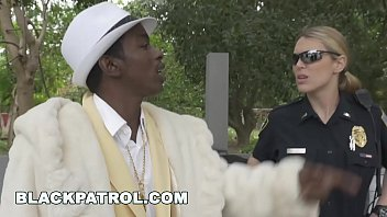 Black Patrol - Officers Maggie Green & Joslyn Turn Black Pimp Into Their Ho
