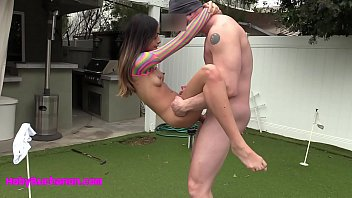 Petite 95 LB Harmony Wonder Face Fucked & Pussy Pounded HARD After Putt-Putt