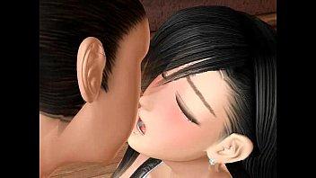 【アニメ】黒髪ストレートがキレイな爆乳美少女のパイフェラが最高過ぎる