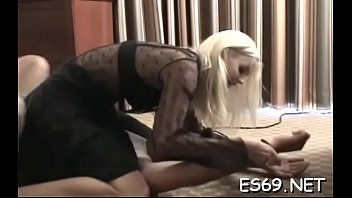 Prurient maid actively fucked