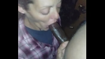 Nigga nut n dis white bitch throat