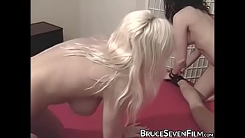 Lesbians take turns being tied and fucked using sex toys