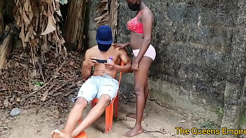 American male model relaxing gets to fuck a sweet black ebony babe with nice tits 2021 new outdoor