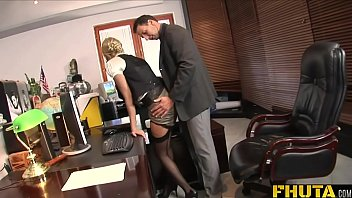 Vintage nick knack glass Fhuta - caught with finger in pussy she gets fucked by the boss