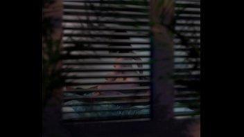 SPYCAM - Fucking my Russian neighbor, my hidden camera was outside as voyeur