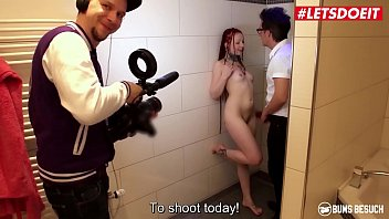 LETSDOEIT - #Jezzicat - German Teen Pornstar Tricked Into Shower Sex With Daddy By Dirty Producers