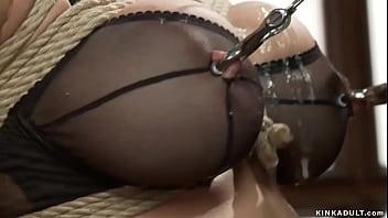 Busty MILF service slut trainee fucked