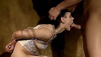 Micho Lechter gets her lesson. Part 3. The third lesson is: tolerate cruel bondage sex. 14 min