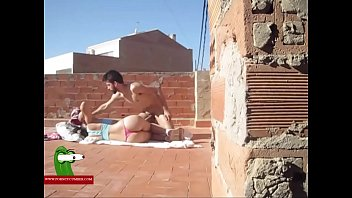 Sunbathing food of dick and fucked on the floor ADR0249