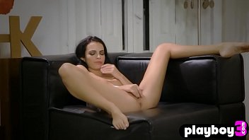 Sexy babe became wet and played with her tight pussy