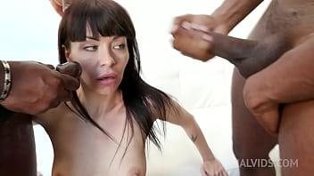 Sasha Colibri has kinky sex with black bulls KS042