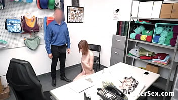 Shoplifter Teen Interrogated and Fucked by Cop