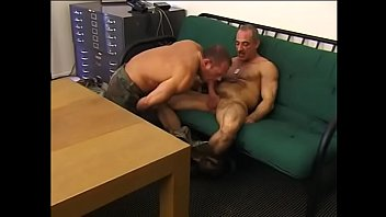 Army reg homosexual - Army hunks enjoy fucking hard and blasting loads on couch