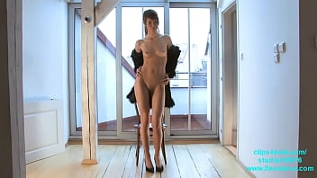 Skinny long legged fashion and BDSM model Candy tied up and whipped porno izle