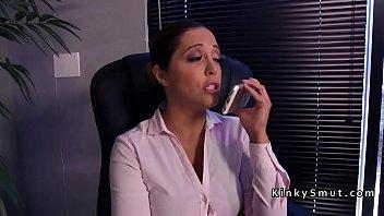 Lesbian doctor anal fucks patient 5 min