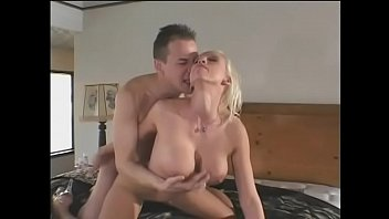 Sexy blonde white milf in purple lingerie Nicki Hunter craves young cock in her pussy