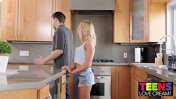 TEEN ALLIE NICOLE SHOWS HER STEPBROTHER HOW TO CREAMPIE 12 min