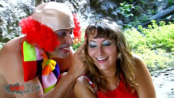 Innocent young Charlotte b. anal fucking by a crazy clown