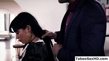 Hot Latina Maid Fucked While Washing Dishes