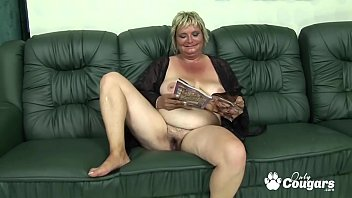Hairy fat granny Flabby old granny drains a young mans balls