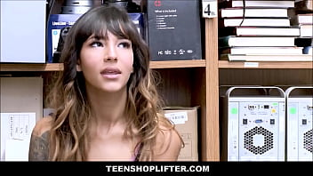 Tiny Latina Teen With A Cute Ass Kitty Carrera Caught Shoplifting Has Sex With Officer For No Cops