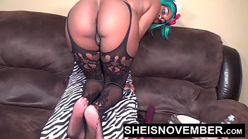 HD Fancy Young Ebony Girl In Sexy Lingerie Fucking Her Ass Solo Anal Dildo Fuck Sheisnovember & Big Round Tits