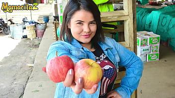 CARNE DEL MERCADO - (Xiomara Soto & Pedro Nel) Cute BBW Teen Latina Homemade Cock Riding With A Stranger