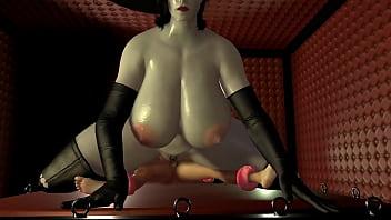 Bbw Lady Dimitrescu Riding Her Man Slave Cowgirl Style