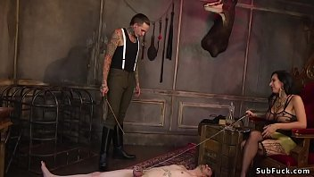 Locked dick man tormented by alt couple
