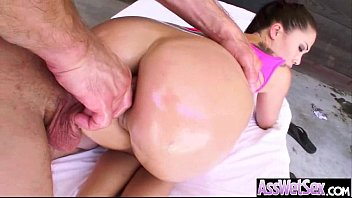 Oiled All Over Girl (london keyes) With Big Ass Get Hard Deep Anal Sex movie-23