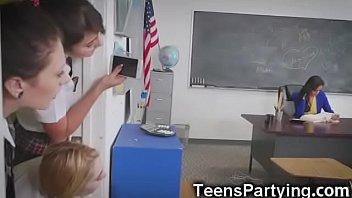 Teen Besties in After School Detention! video