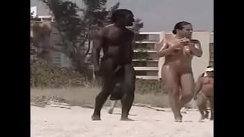 Black On Nudist Beach